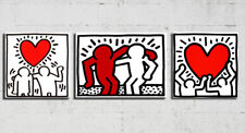 Quadro Dipinto a Mano Moderno Quadri su Tela Canvas Keith Haring Pop art casa