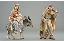The escape in Egypt statue wood carving, for Nativity set mod. 912