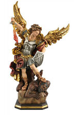 Saint Michael statue wood carved