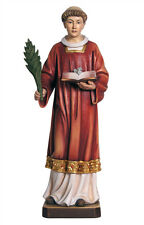 Saint Stephen statue wood carving