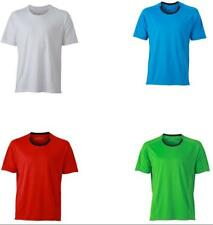 James & Nicholson Shirt Mens Running T-Shirt-T-shirt Uomo - NUOVO