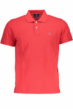 GR 85692 Rouge polo hommes gant manches longues 2 boutons logo