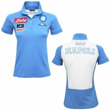 Kappa NAPOLI SSC LADY polo CALCIO Originale DONNA mc.corta SOCCER Azzurro 910bac