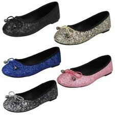 ragazze Spot On Paillettes Ballerine
