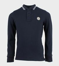 Stone Island Kids Long Sleeved Rugby Shirt In Navy. Logo On Chest  681620748