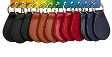 Leather Key Fob Key Chain/Key Ring in Four Colours Black/Tan/Navy/Red