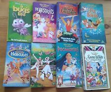 Selection of individual Walt Disney VHS video tape covers (no tapes or cases)
