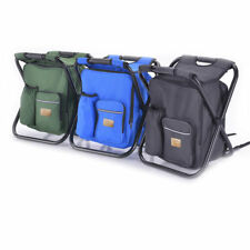 Fishing Camping Backpack Chair Portable Stool with Cooler Bag