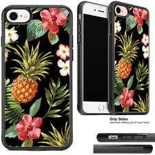 Tropical Pineapple Hibiscus Flowers Phone Case For Apple iPhone and Samsung