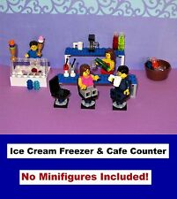 Ice Cream Freezer Counter Cafe Bar Restaurant Coffee MOC - MADE OF LEGO BRICKS