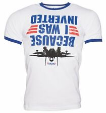 Official Men's Top Gun Because I Was Inverted Ringer T-Shirt : 80s Movies