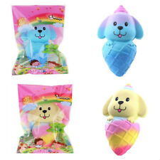 VLAMPO SQUISHY DOG PUPPY ICE CREAM 16CM JUMBO SLOW RISING WITH PACKAGING