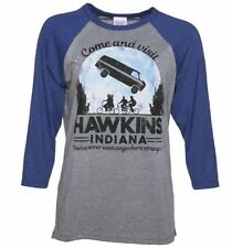 Women's Come and Visit Hawkins Indiana Stranger Things Inspired Raglan Baseball