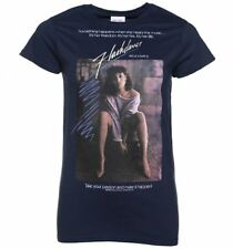 Official Women's Flashdance Movie Poster Navy T-Shirt : 80s Movies