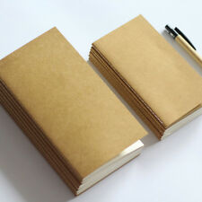 POCKET SIZE KRAFT PAPER NOTEBOOK BLANK DOT GRID NOTEPAD DIARY MONTHLY PLANNER