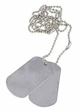 US Army Custom Dog Tags Stamped to your specifications - Embossed