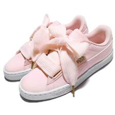 Puma Basket Heart Patent Wns Pearl Pink Gold Patent Leather Women Shoe 363073-14