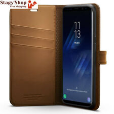 Etui Galaxy S8, Spigen® [Wallet S] Support inclut [Café Brown] Portefeuille...