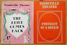 Selection of individual Vaudeville Theatre programmes 1960s West End programme