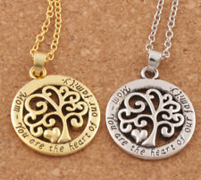 tree of life mom necklace pendant gold coloured silver coloured chain