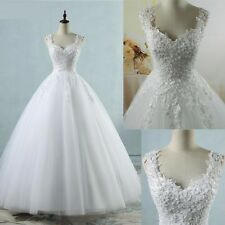 Bridal Dresses Ball Gown Tulle Wedding With Pearls Gowns Sleeveless Lace Vintage