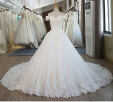 Bridal Dress Vintage Plus Size Women Lace Wedding Dresses Ball Gown with Sleeve