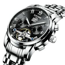 KINYUED JYD-J014 STAINLESS STEEL AUTOMATIC MECHANICAL WATCH BUSINESS STYLE
