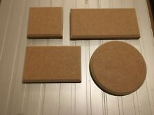 PLAQUES Circles / Squares / Rectangles 18mm MDF blank signs plinths plain stand