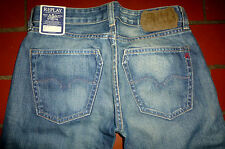 Neu w25/L34 25/34 Replay Ioko 577 Straight Jeans Hose Gerades Bein Low Rise Used
