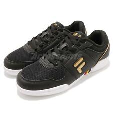 Fila C301S Black Gold White Women Lifestyle Casual Shoes Sneakers