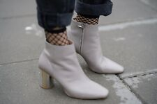 Zara Leather Ankle Boots With Metal Heel Size UK 3, 6, 7