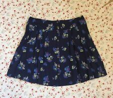 M&S INDIGO Purple Mix Floral Print BOHO Button Mini Skirt ~ Sz 12 14 18~ BNWT