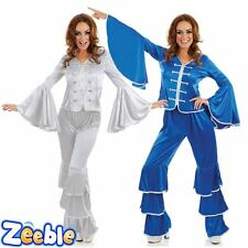Adult Ladies Dancing Queen Costume Outfit Blue or Silver