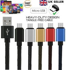 Strong Braided Micro USB Charger Data Cable Lead for SAMSUNG SONY HTC LG NOKIA