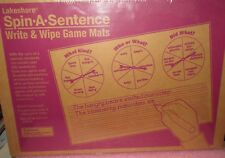 Lakeshore Spin A Sentence Write & Wipe Game Mats RR442 Educational