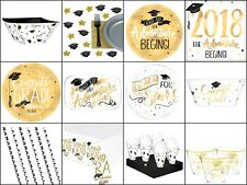 GRADUATION PARTY TABLE WEAR SUPPLIES, BANNERS, BALLOONS, GARLAND, CONFETTI