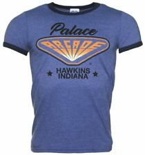 Men's Stranger Things Inspired Hawkins Indiana Arcade Heather Blue and Navy Ring