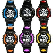 Unisex Boys Girls Kids Children Digital LED Quartz Alarm Date Sports Wrist Watch