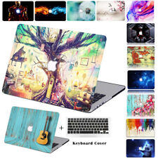 Fashion Latop Hard Shell Case & Keyboard Skin Cover For Apple Macbook Air Pro HJ