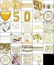 Gold 50th Anniversary Party Supplies; Decoration; Table Wear Photo Prop Party