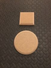 WOODEN PLAQUES Circle / Square / Rectangle / 18mm MDF blanks signs plinth stands