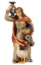 Female water carrier, statue wood carving for Nativity set mod. 912