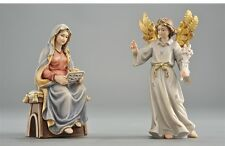 The annunciation statue wood carving, for Nativity set mod. 912