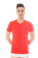 GR 52254 Rosso t-shirt uomo datch uomo t-shirt rosso datch con manica corta coll