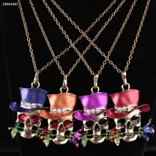 35C1D38 New Fashion Halloween Skull Exaggerated Necklace Pendant Women Jewelry
