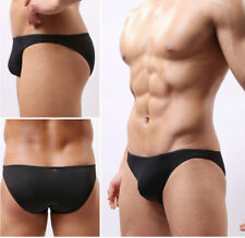 New Sexy Men Soft Ice Silk Low-rise Boxer Briefs Seamless Underwear Popular K133