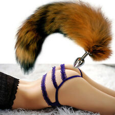 Anal's Plug Fox Tail Metal Fox's Tail Butt's Anal's massager toy HOT !