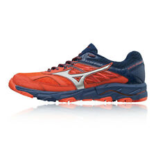 Mizuno Mens Wave Mujin 5 Trail Running Shoes Trainers Sneakers Navy Blue Red