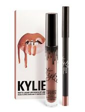 Kylie Jenner Duo Set Liquid Lipstick Matte Lip Liner King K Shade Lip Kit New