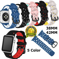 Soft Sport Silicone For iWatch Nike Apple Watch Band For Series 1 2 3 42mm 38mm